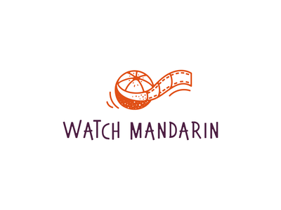 Movie service logotyphes brand film citrus logotype movie app mandarin logo