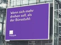 "rebranding design study with advertising campagne ""happyjob"""