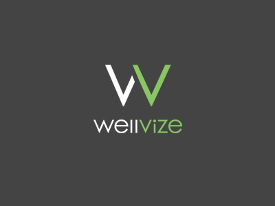 Wellvize  logo wordmark