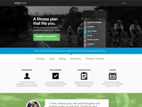Wellvize Fitness Landing Page