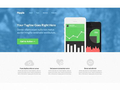 Ripple Homepage homepage wordpress theme