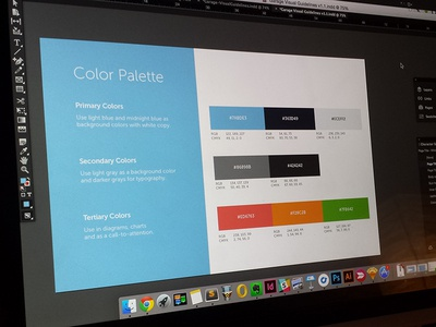 Garage Identity Guide - Color Palette color palette identity guide guide identity
