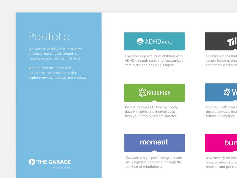Garage portfolio