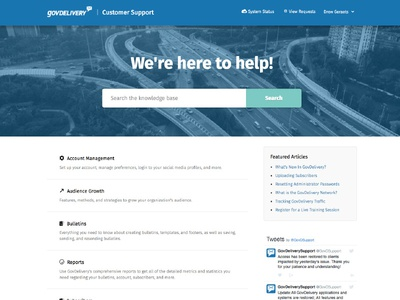 GovDelivery Support Site help center zendesk