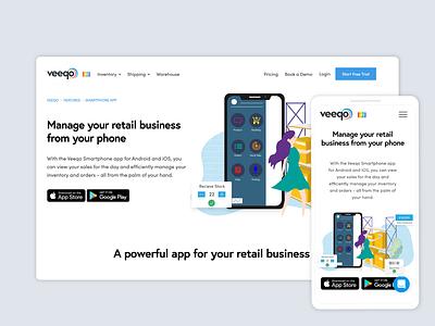 Veeqo's Smartphone app