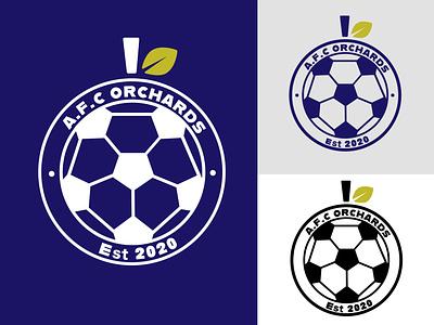 Orchards Football team logo vector logo branding design shield logo afc orchard logo apple logo team logo logodesign sports logo football team football logo football
