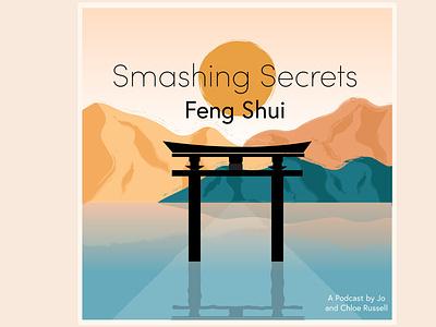 Podcast Art work and social icon artwork podcasting nature illustration illustrator tao feng shui podcast podcast art design graphic nature illustration