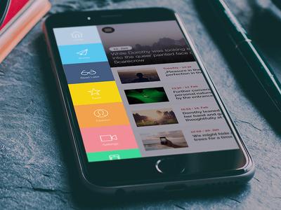 apfellike App - online magazine app magazine menu mobile app app