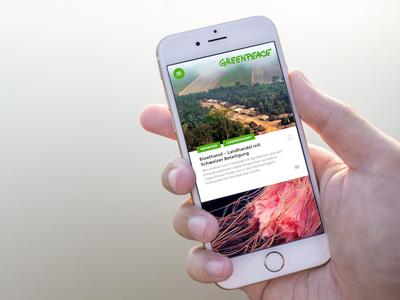 Greenpeace CH App app magazine mobile app