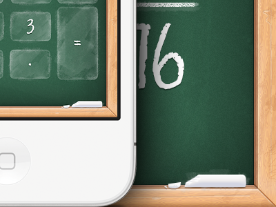 Calculator App calculator app iphone app ui design chalk chalkboard