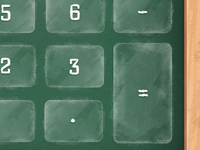 HowCalc chalkboard calculator