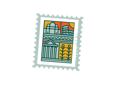 Rome Stamp stamp stayhome peace italy rome design