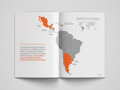 Booklet about HHRR for an international ong. ong map consulting graphic design branding