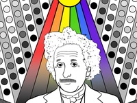 Einstein's Quantum Theory Of Light color light science illustration photoshop fresco raster vector illustrator