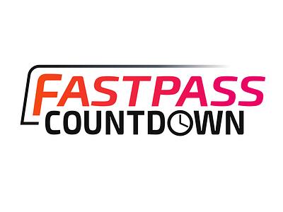 FastPass Countdown App Logo sketchapp branding vector logo design sketch