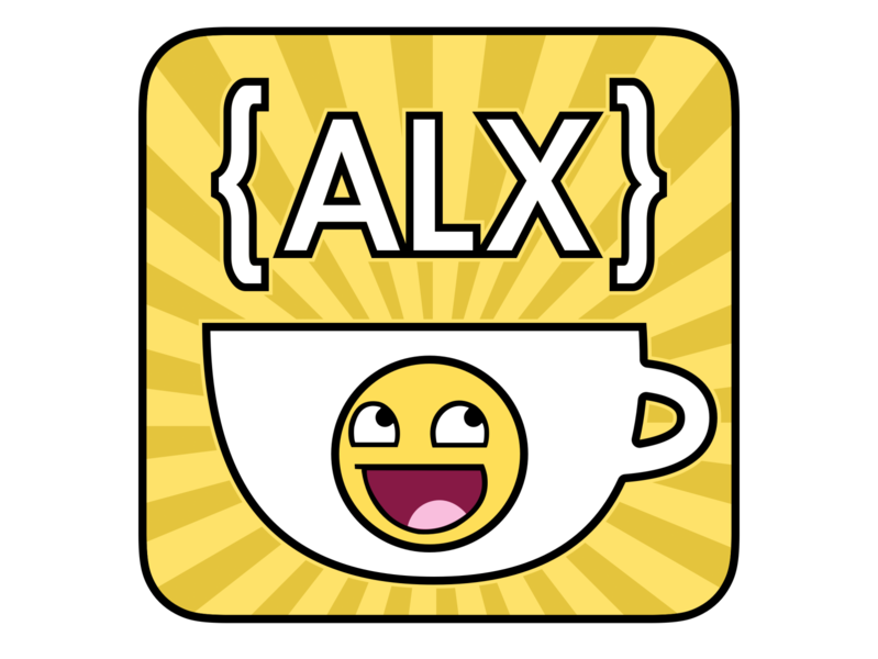 ALX Code & Coffee MeetUp Sticker typography logo yellow sketchapp graphic design design vector sticker