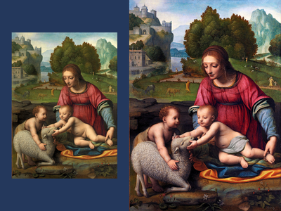 Photo Restoration print color correction digital painting sketch digital photoshop raster restoration