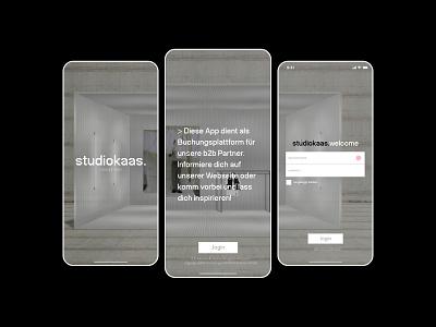 studiokaas.app branding typography logo visual app flat design ui ux minimal
