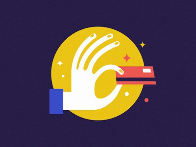 Credit card credit card shopping icon hand illustration vector buy purchase