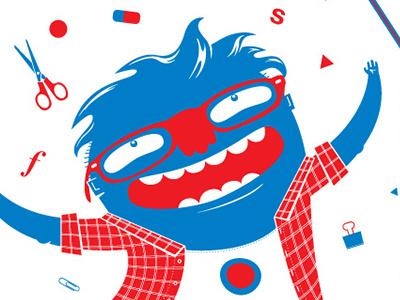 graphic designer grapic designer young character illustration portrait