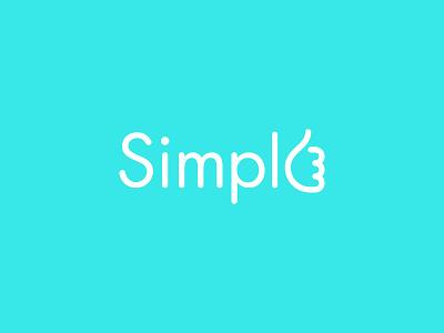 Simple futura rounded logo logotype wordmark simple flat clean hand ok like thumb up