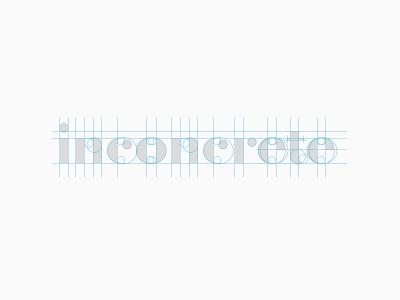 inconcrete logo logotype wordmark clean bodoni lettering didot grid shapes guides wip