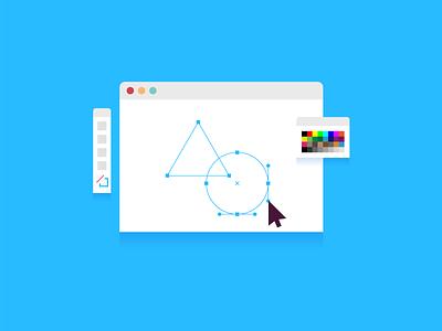 Illustrator ai geometry drawing osx window software ui illustration spot illustrator