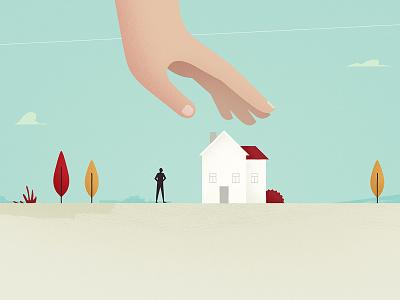 Closer to home styleframe hand house sky landscape illustration