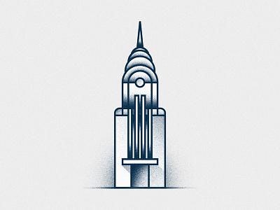 Chrysler grain usa ny architecture illustration new york artdeco building chrysler