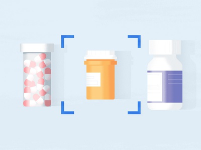 Jars & Flasks health texture medication pills medicine flask jar illustration styleframe