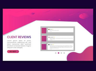 Client Review Page Design