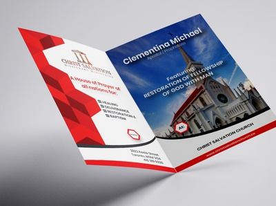 Bio fold church brochure design