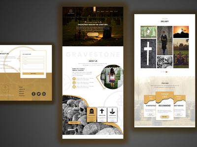 web landing page psd template design