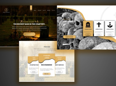 web landing page design psd template