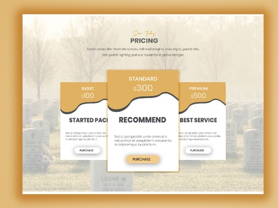 pricing section design