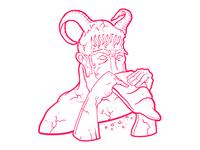 El dios Pan Comiendo pan