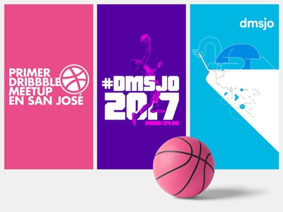Three Dribbble Meetups illustration dunk meetup costa rica san josé dmsjo event host dribbble meetup