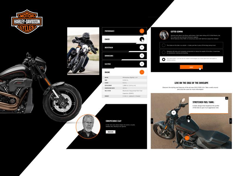 Harley Davidson — eLearning Modules Proposal proposal multiple choice dropdown hotspot davidson harley e learning modules