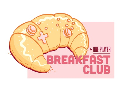 The best times of the day. console player club breakfast cheese ham videogames switch control gaming game croissant