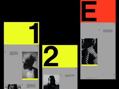 B—Exhibition color design logo art direction branding typography simple clean