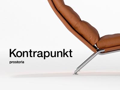 Prostoria — Kontrapunkt furniture prostoria minimalist minimalism clean simple art direction typography effects after animation motion model c4d cinema4d 3d