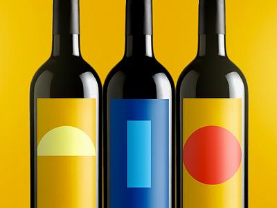 Voštinić Klasnić Wine Labels art direction wine typography simple color clean branding bottle
