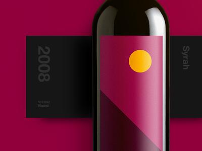 Syrah Wine Label art direction wine typography simple color clean branding bottle