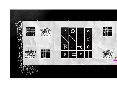 Johannesburg Festival Branding simple logo grid festival poster clean branding behance animated abstract