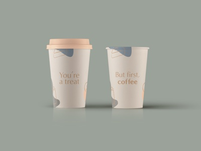Crumbs Coffee Cups colour type vector graphic design colour scheme splooshes brand icons brand graphics icons graphics graphicdesign branded coffee cup brand collateral brand development branding bakery packaging bakery coffee cups