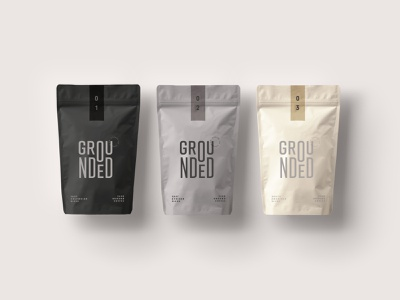 Grounded Coffee Packaging Concept type logo design typography logo mark logo design packaging packaging design graphic design coffee packaging coffee branding coffee brand coffee packaging concept brand development branding