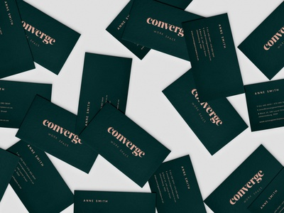 Converge Workspace Business Cards vector logo design branding design type movement workspace brand development lettering typography graphic design design type logo branding