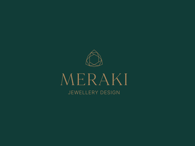 Meraki Jewellery Design Logo logotype jewellery jewellery design logo designer vector logo design type design graphic design brand development branding icon typography logo designs logo logodesign