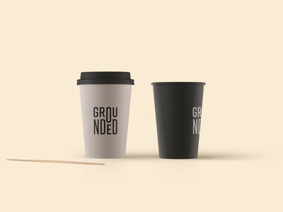 Grounded Coffee Cups adobe vector design type logo typography brand design brand development logo design branding coffee cup coffee shop coffee bar