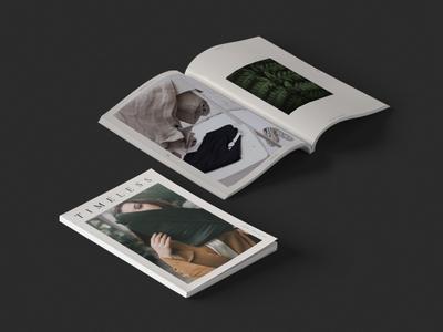 Timeless Magazine fashion logo branding print design magazine layout graphic design